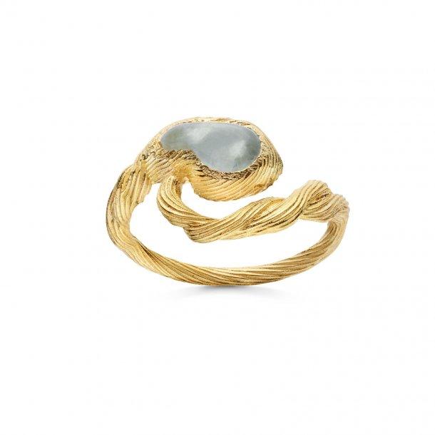 Maanesten Whirlpool ring i forgyldt - 4748A