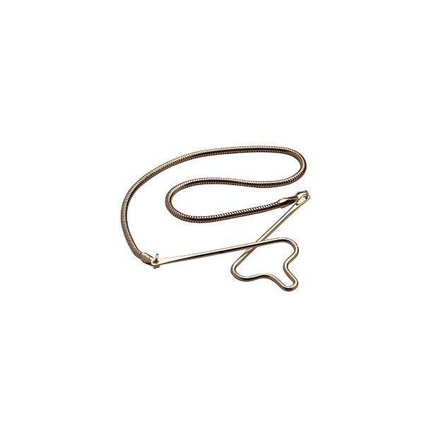 Forgyldt sølv slipsekæde - 491581FG8