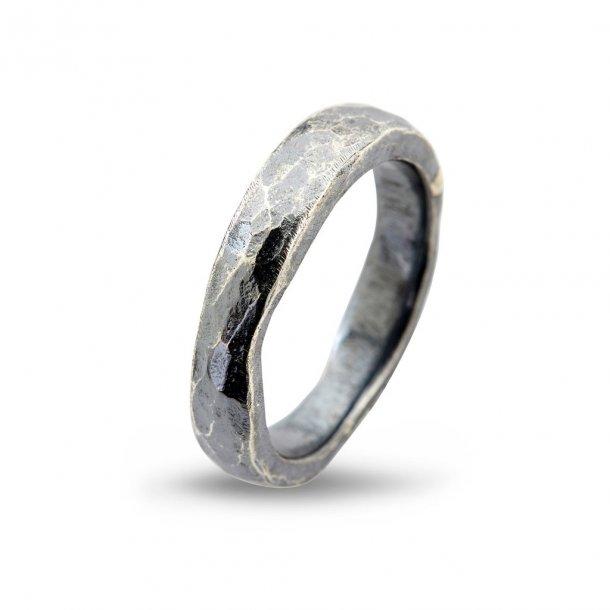 By Birdie Hammered ring i sølv - 50110187