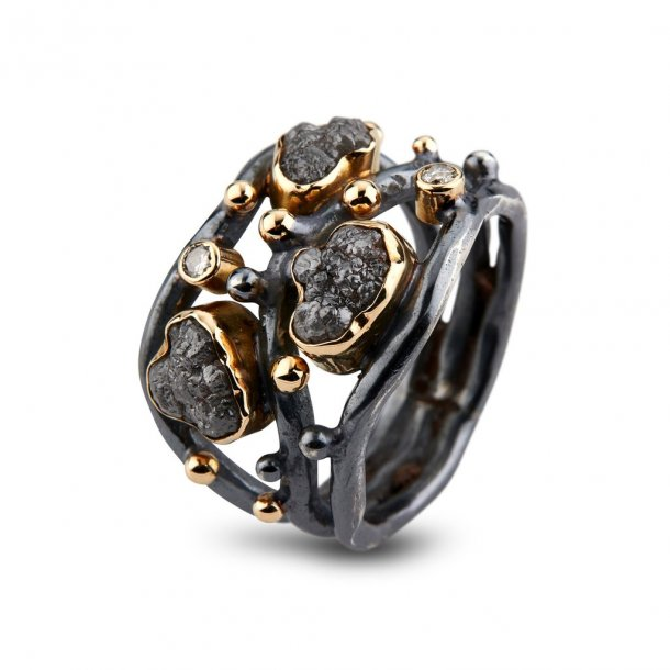 By Birdie ring Alexandra med diamanter - 50110219