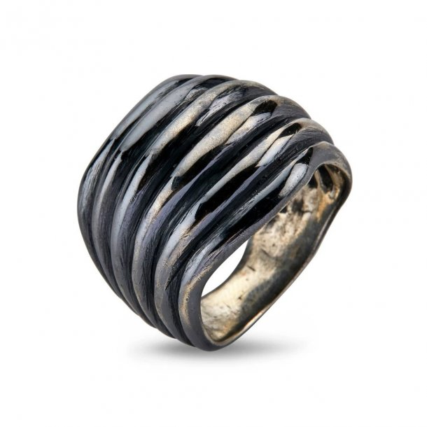 By Birdie Highclere Silver Oxy ring - 50110254