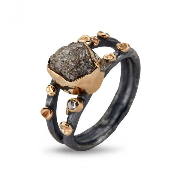By Birdie Cara ring med rådiamant - 50110261