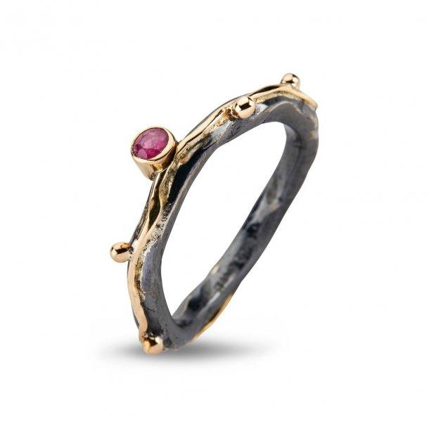 By Birdie Zeus Single Ruby ring - 50110266