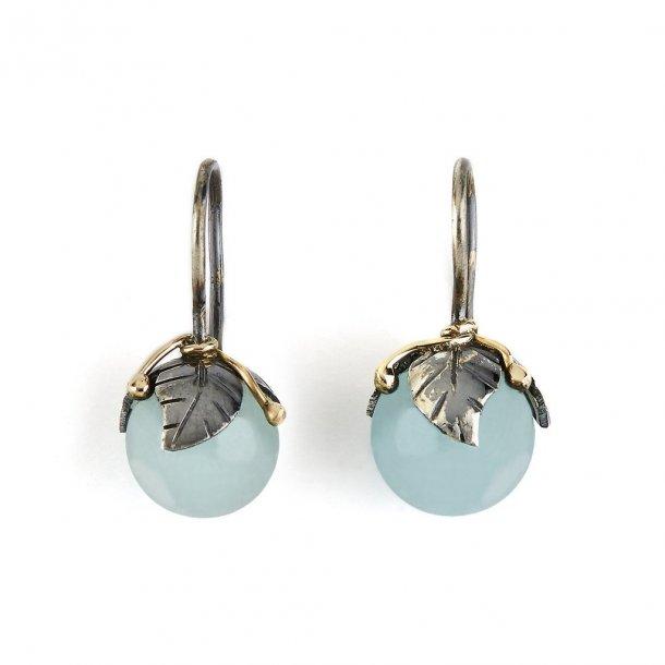 By Birdie Earring Urban Leaf Drops Aquamarine - 50801235F