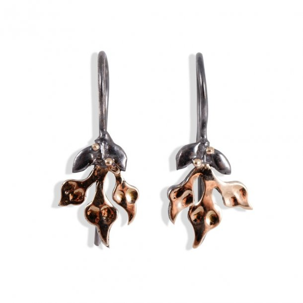 By Birdie ørehænger Windsor Bouquet 3 Leaves 14 mm - 50801253