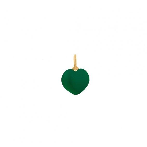 Frk. Lisberg Grøn vedhæng forgyldt - 6140