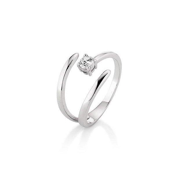 Kranz & Ziegler Rhodineret sølv ring - 6205162