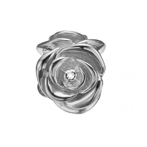 Christina sølv Topaz Rose charm - 630-S120