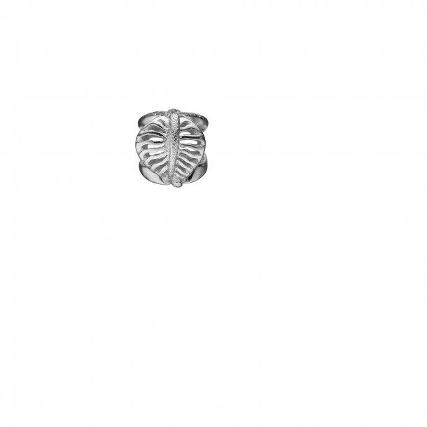 Christina sølv Sparkling Leaf charm - 630-S126
