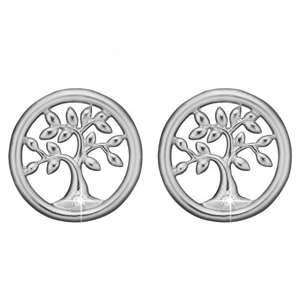 Diamond Tree of Life ørestikker sølv - 671-S57