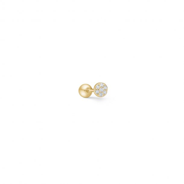 Mads Z ørestikkere i forgyldt sølv med zirkonia - 8217382