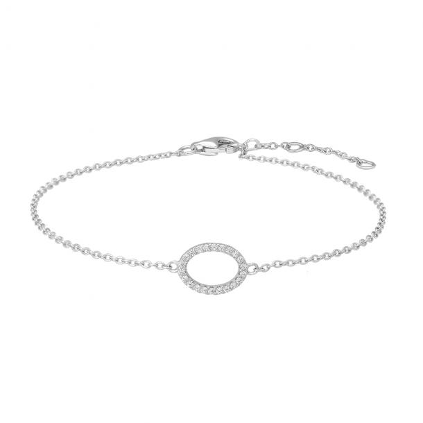 Rhodineret sølv armbånd EMILYNOR  - 845082