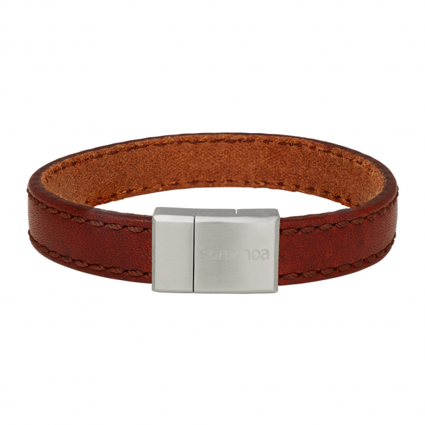 SON armbånd brun kalvelæder 12 mm - 897-016-BROWN21