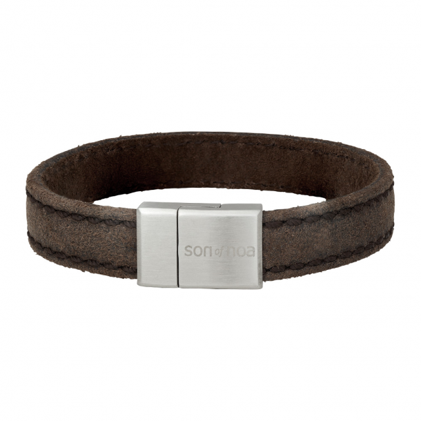 SON armbånd grå kalvelæder 12 mm - 897-016-GREY21