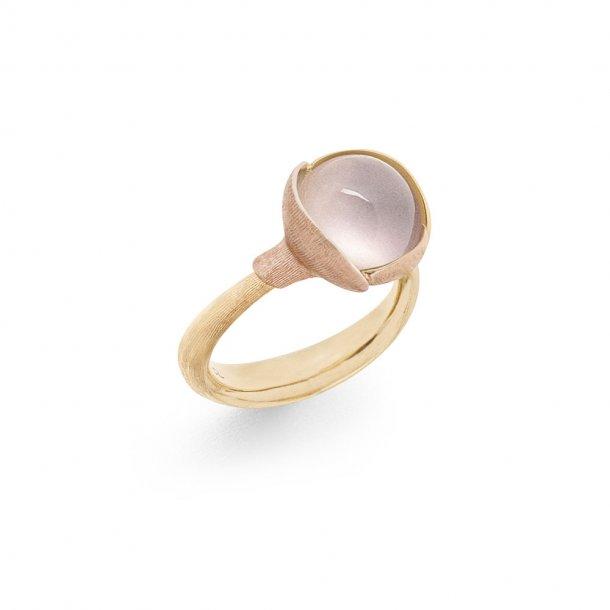 Ole Lynggaard Lotus 2 ring rosakvarts - A2651-420