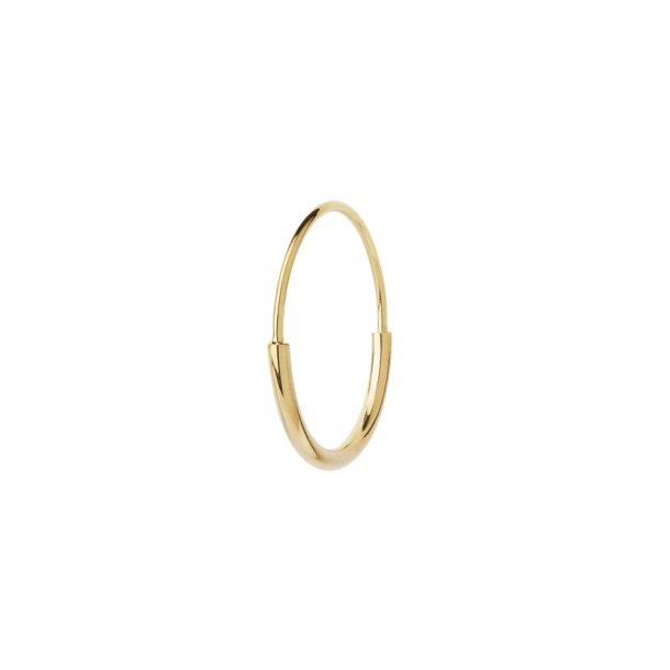 Maria Black Delicate Hoop 18 i forgyldt - 100541
