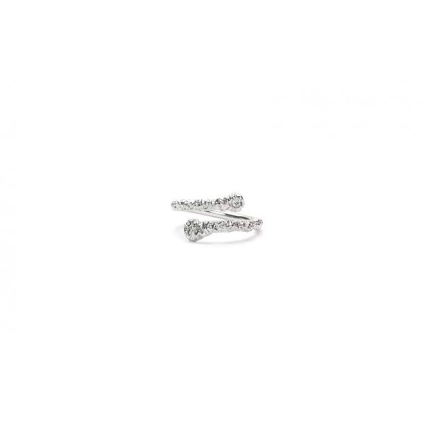Frederik IX Crunchy White Nature ring - DMN0315RHWH