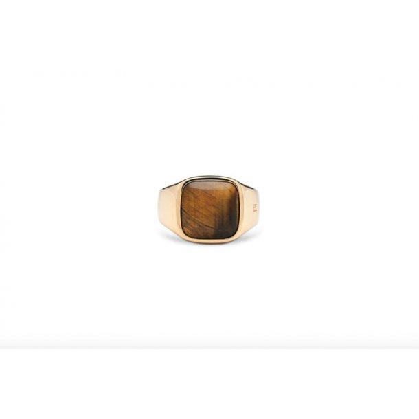 Frederik IX Cushion signet ring - DMN0282GDTE