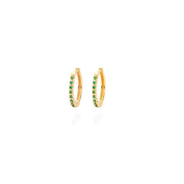Frederik IX Eternity green øreringe - DMB0325GRGD