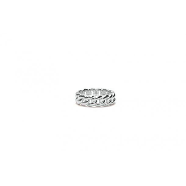 Frederik IX Polished curb ring sølv - DMN0309RHPO