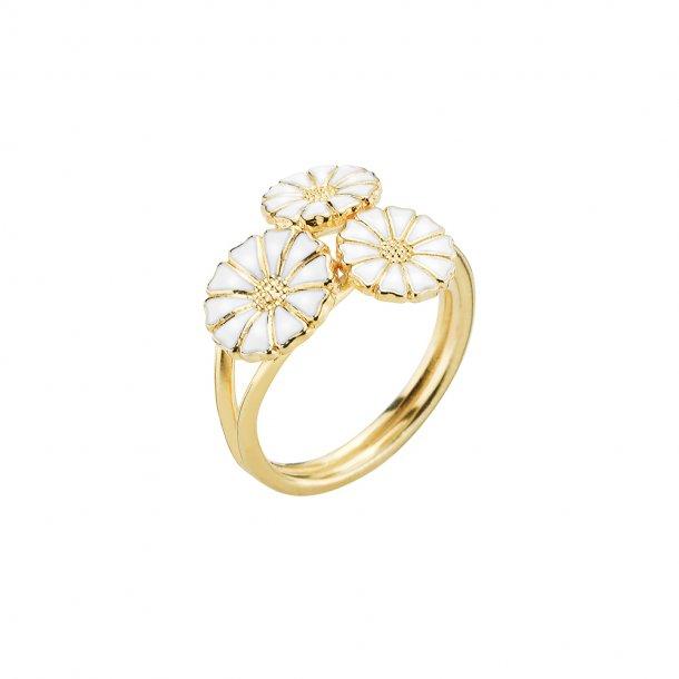 Lund Copenhagen marguerit ring med 3 blomster - 907007-M