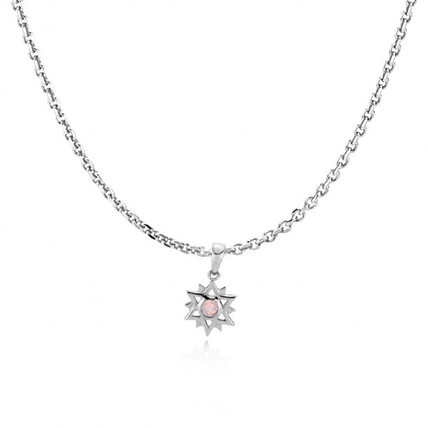 Sistie Olivia Dahl halskæde sølv - zs20211sws-pink45