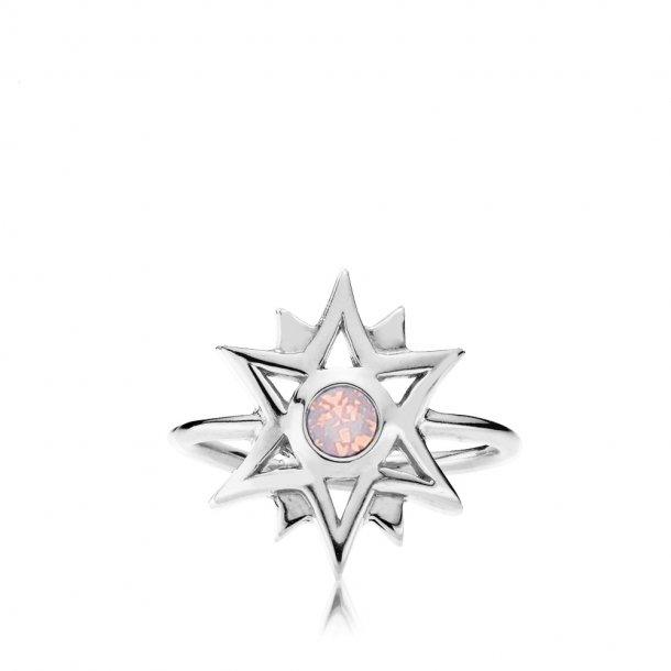 Sistie Olivia Dahl ring sølv - z4018gs-pink