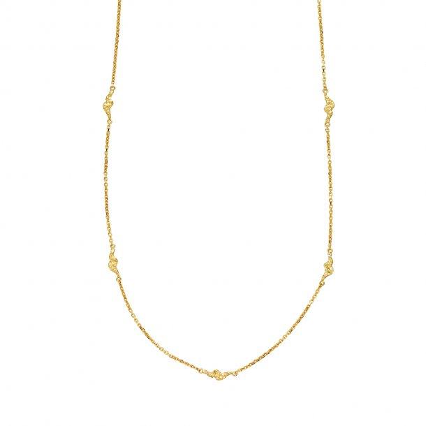 Sistie Silke halskæde forgyldt - z2022gs