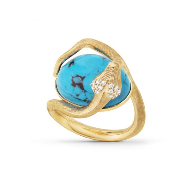 Ole Lynggaard Snakes ring turkis - A9996-451
