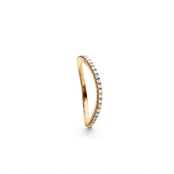 Ole Lynggaard Love Band ring curved - A2601-403