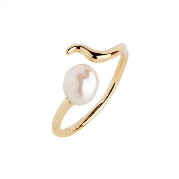 Maria Black Moonshine ring i forgyldt sølv - 500383YG