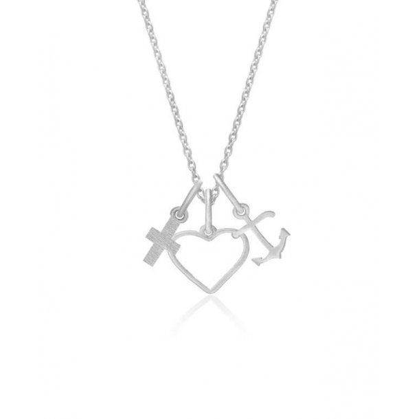 Frk Lisberg Tro, Håb & kærlighed halskæde - 6417-925