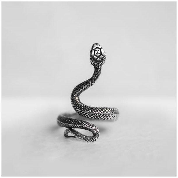 Zarge Serpente slange ring i sølv