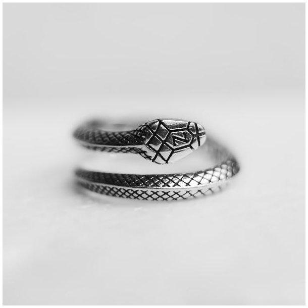 Zarge Serpentello slange ring i sølv