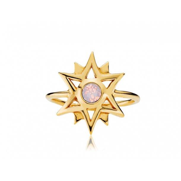 Sistie Olivia Dahl ring forgyldt - z4018gs-pink