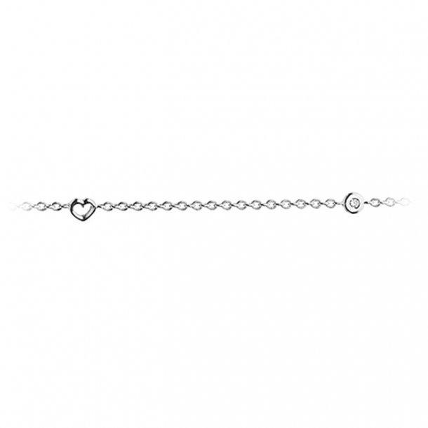 Ole Lynggaard armbånd 18 kt hvidguld med hjerter - A1950-501