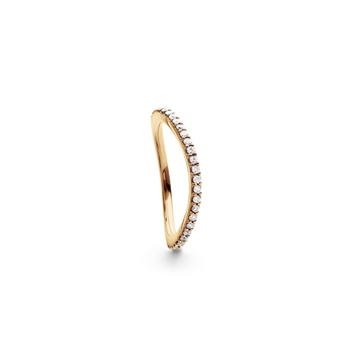 ole lynggaard – Ole lynggaard love band ring curved - a2601-403 rdg/0,40-0,47 ct 55 fra brodersen + kobborg