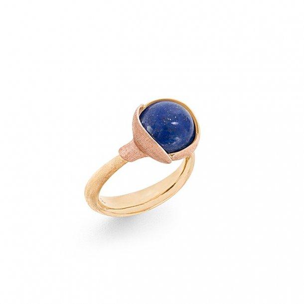 Ole Lyngaard Lotus ring i 18 kt med lapis lazuli - A2651-427