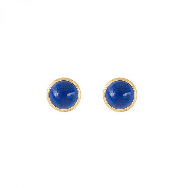 Ole Lynggaard Lotus ørestikkere, lapis lazuli - A3058-413