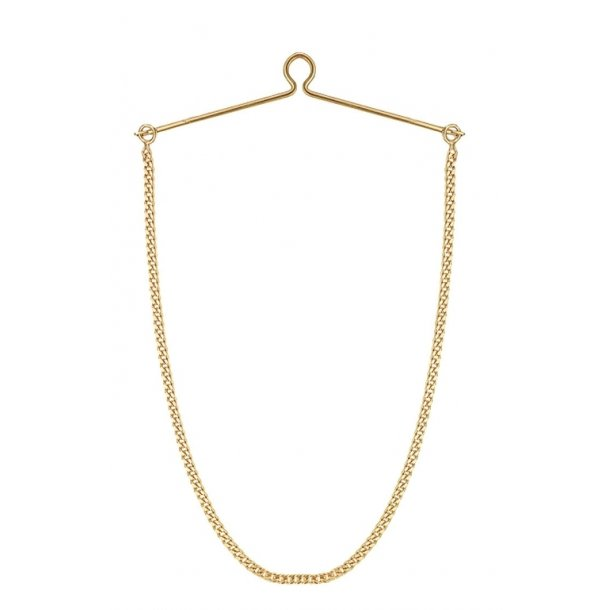 Aagaard 8 kt slipseholder med kæde - 0852107