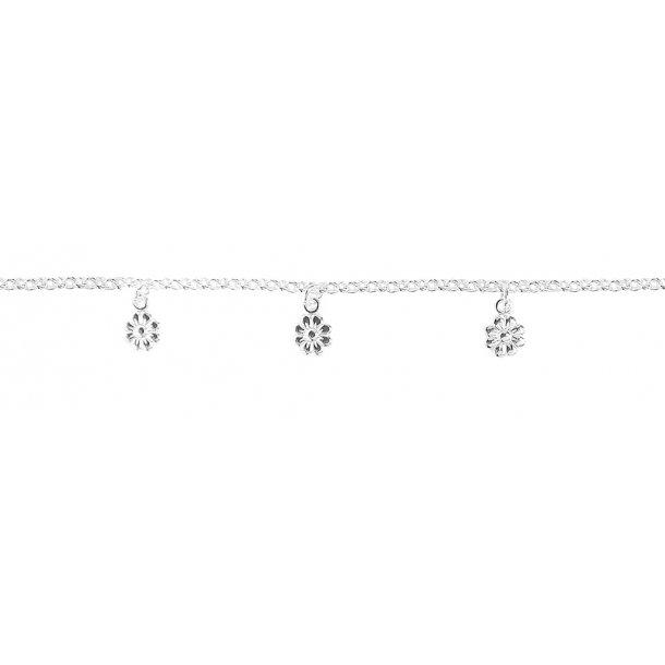 Aagaard Sølv armbånd med blomster - 1110287
