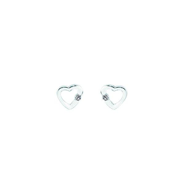 AAgaard sølv rhodineret ørestikker med zirconia - 1192211-75ø