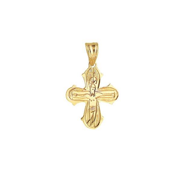 14 kt rødguld kors - håndgraveret - 1488010
