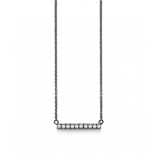 Aagaard Sølv vedhæng med kæde - 21321486-40