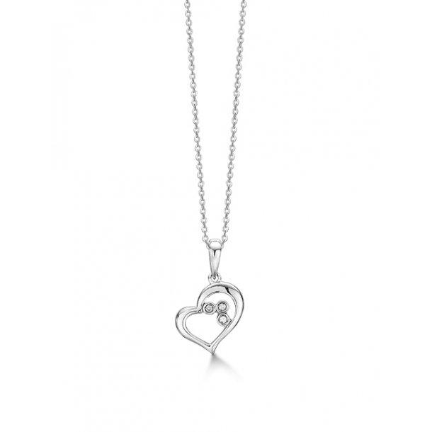 Aagaard Rhodineret sølv vedhæng med diamant - 21333509-45