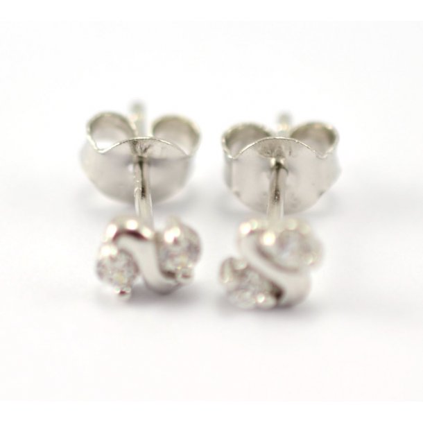 Aagaard sølv rhodineret ørestikker med zirconia - 2192156-75ø