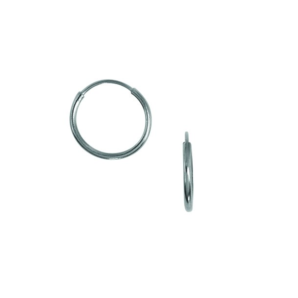 Aagaard Sort rhodineret sølv creol  - 2199076