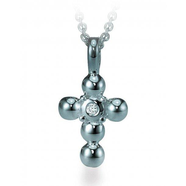 Aagaard Sølv vedhæng med kæde - 22321537-42