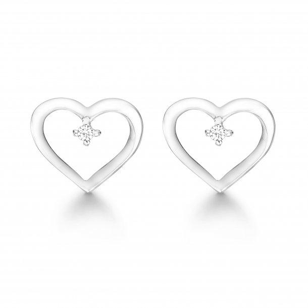 Aagaard 14 kt ørestikker med diamant - 44941204-34