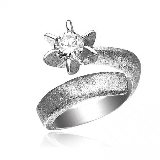 Blicher Fuglsang Sølv ring med zirkonia - 1226-39R